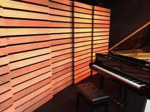 岩崎将史が設計したオリジナル吸音拡散板