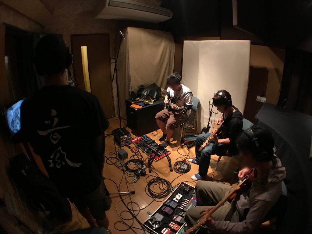 バンドを同時にレコーディング