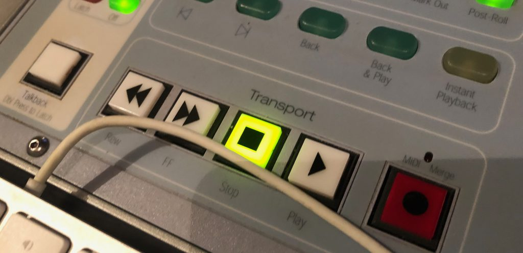 ProTools D-Commandのトランスポート