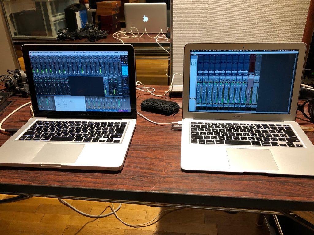 2台のPCでオーケストラコンサートのレコーディング