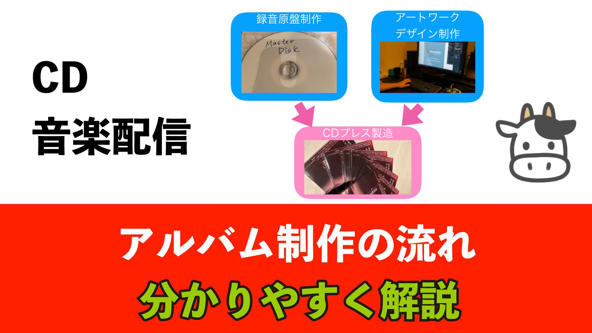 アルバム制作の流れ【CD制作・音楽配信】3つの工程